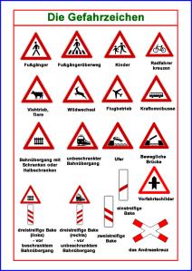 Gefahrzeichen